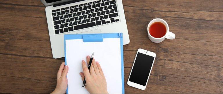 Schrijven van blogs